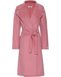 Max Mara Dada Virgin Wool Coat - Pink