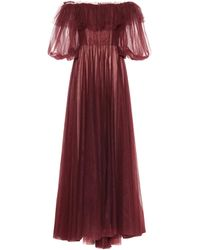Valentino Vestido de fiesta de tul - Rojo