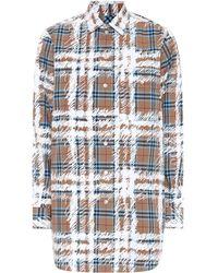 Burberry - Scribble Check Cotton Shirt - Lyst