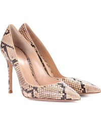 Gianvito Rossi - Exclusive To Mytheresa. Com – Gianvito 105 Snakeskin Pumps - Lyst