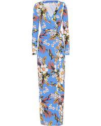 Diane von Furstenberg - New Julian Floral Silk Dress - Lyst