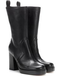Rick Owens - Leather Ankle Boots - Lyst