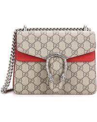 f453cc0d8 Gucci Dionysus Gg Supreme Super-mini Cross-body Bag in Black - Lyst