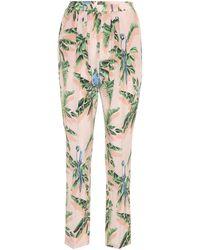 3dab727308e4 Stella McCartney Leopard Print Silk Trousers - Lyst