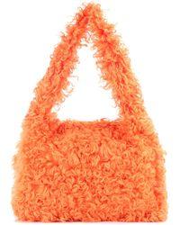 Miu Miu - Shearling Shoulder Bag - Lyst