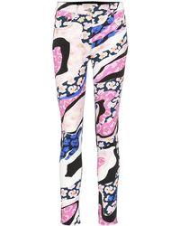 Emilio Pucci - Jeans skinny a stampa - Lyst