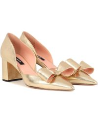 Rochas | Metallic Leather Court Shoes | Lyst