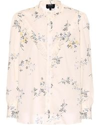 A.P.C. - Polly Printed Cotton Top - Lyst