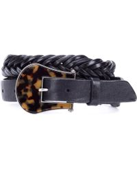 Golden Goose Deluxe Brand - Tube Braided Leather Belt - Lyst
