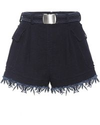 Philosophy Di Lorenzo Serafini - Belted Cotton Shorts - Lyst