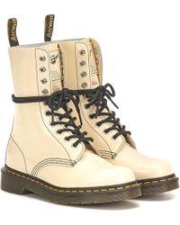 Marc Jacobs - X Dr. Martens Ankle Boots aus Lackleder - Lyst