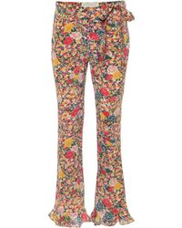 Etro Mid-rise Flared Printed Silk Pants