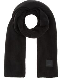 Acne Studios - Bansy Face Knitted Wool Scarf - Lyst