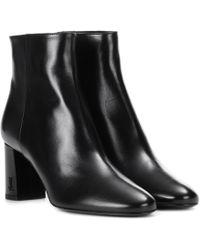 Saint Laurent - Leather Ankle Boots - Lyst