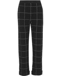 Balmain | Plaid Tweed Straight-leg Trousers | Lyst