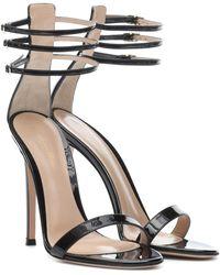 2a3f045ce16 Lyst - Gianvito Rossi Portofino Patent Leather Sandals in Natural
