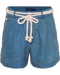 Polo Ralph Lauren - Chambray Linen Shorts - Lyst
