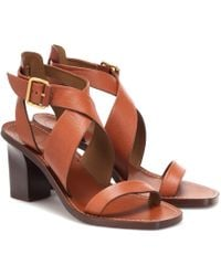 Chloé - Virginia Leather Sandals - Lyst