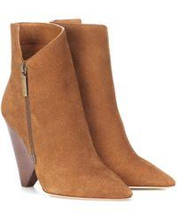 Saint Laurent - Niki 105 Suede Ankle Boots - Lyst