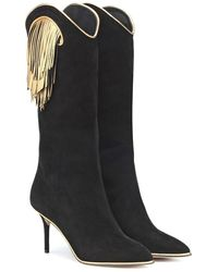 Charlotte Olympia - Stivali Magnifico in suede - Lyst