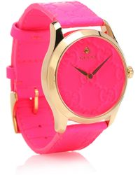 a422e2be0bb Lyst - Gucci G-timeless Sm Bracelet-ya138502 in Pink