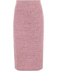 Rag & Bone - Jubilee Metallic Wool-blend Skirt - Lyst