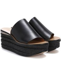 Chloé - Camille Leather Platform Sandals - Lyst