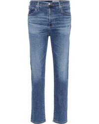 AG Jeans - The Isabelle Straight Cropped Jeans - Lyst