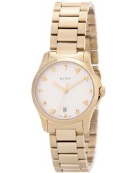 Gucci - G-timeless Small Gold-plated Stainless Steel Watch - Lyst