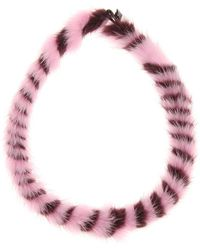 Mary Katrantzou | Twisted Fur Choker | Lyst