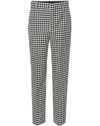 Balenciaga - Checked Virgin Wool Trousers - Lyst