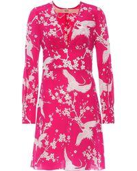 N°21 - Donna Printed Silk Dress - Lyst