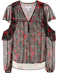 Veronica Beard - Blakely Foral-printed Silk Blouse - Lyst