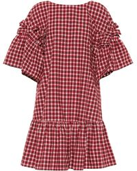Fendi - Checked Cotton Dress - Lyst