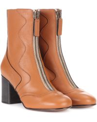 Chloé - Exclusive To Mytheresa.com – Leather Ankle Boots - Lyst