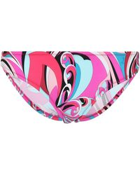 Emilio Pucci - Printed Bikini Bottoms - Lyst