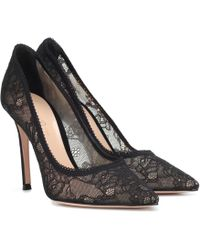Gianvito Rossi - Liliane Lace Pumps - Lyst