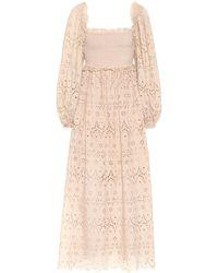 Zimmermann - Bayou Embroidered Cotton Dress - Lyst
