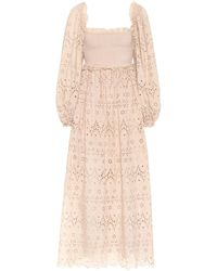 Zimmermann - Bayou Embroidered Cotton Dress - Lyst