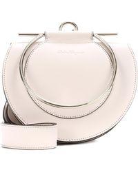 Ferragamo - Gancini Flap Leather Shoulder Bag - Lyst