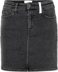 Current/Elliott - 5 Pocket Mini Denim Skirt - Lyst