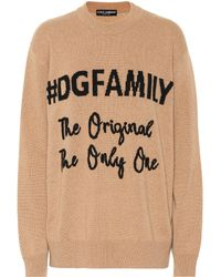 Dolce & Gabbana - Dg Family Cashmere And Wool Jumper - Lyst