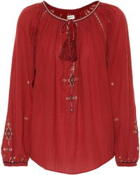 Étoile Isabel Marant - Melina Embroidered Cotton Top - Lyst