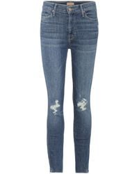 Mother - Cropped Jeans Vamp Fray - Lyst