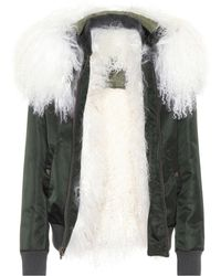 Mr & Mrs Italy - Fur-trimmed Bomber Jacket - Lyst