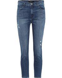 0e1b98b81110 J Brand - Ruby Cropped High-rise Skinny Jeans - Lyst