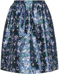 Oscar de la Renta - Silk And Cotton Skirt - Lyst