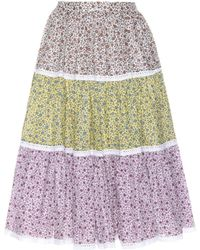 Anna October - Floral-printed Skirt - Lyst