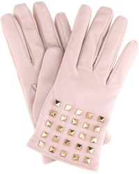 Valentino - Rockstud Cashmere-lined Leather Gloves - Lyst