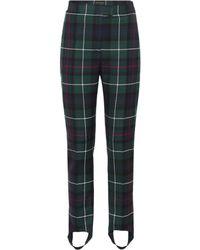 Burberry - Tartan Wool Stirrup Trousers - Lyst